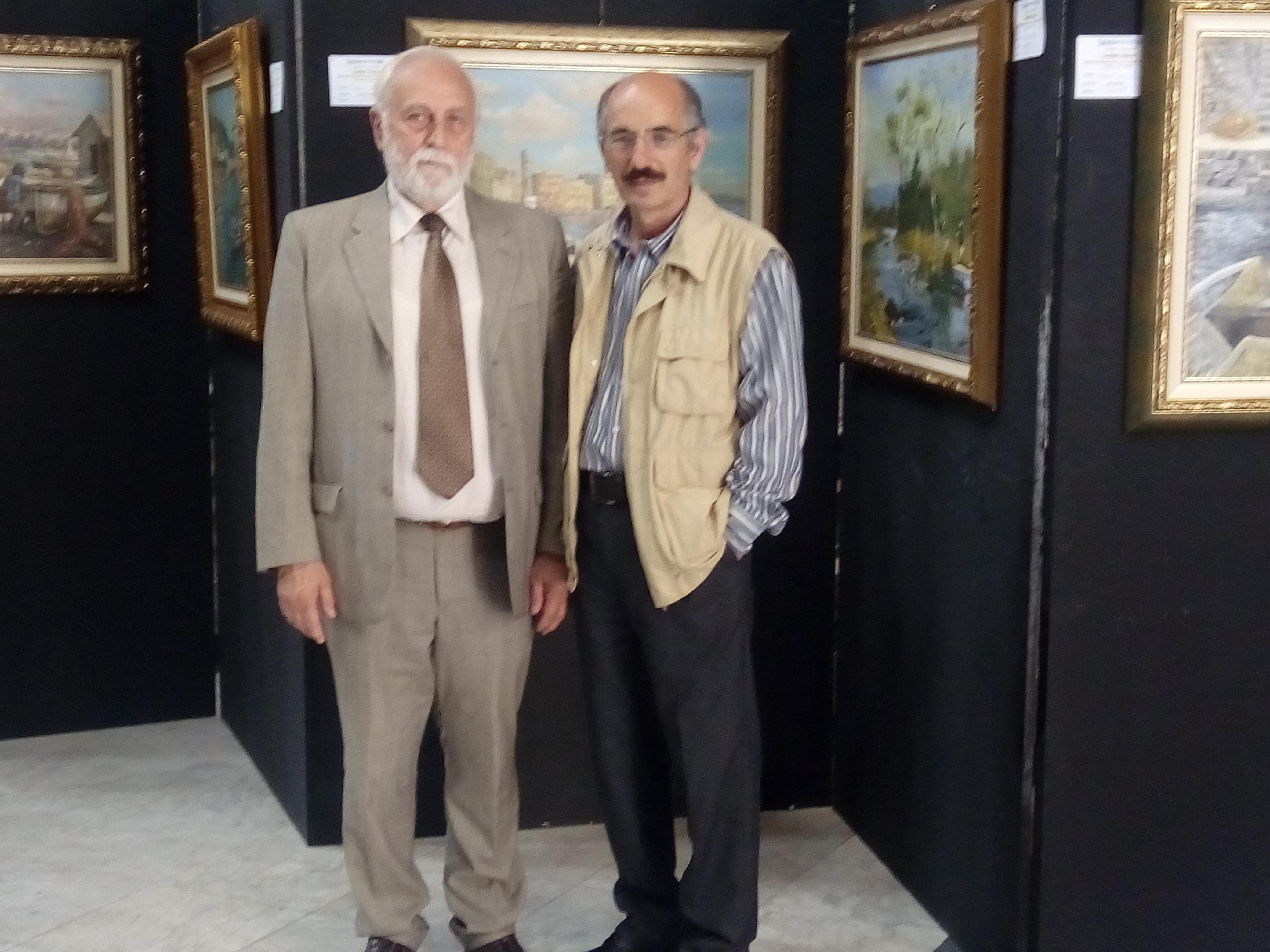 IL Maestro Di Palma con il critico d'Arte Sciascia